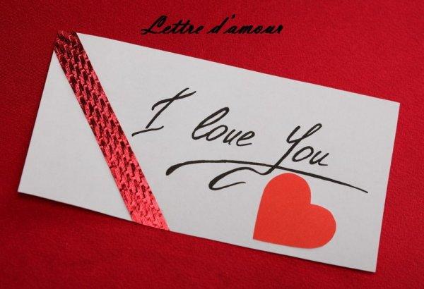 Lettre d'amour - 3 ans & 9 mois