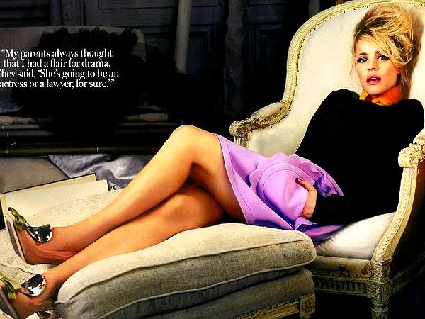 """. En 2010, Rachel avait r�alis� un magnifique Photoshoot pour le magazine """"InStyle"""""""