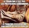 politicien voleur a argent