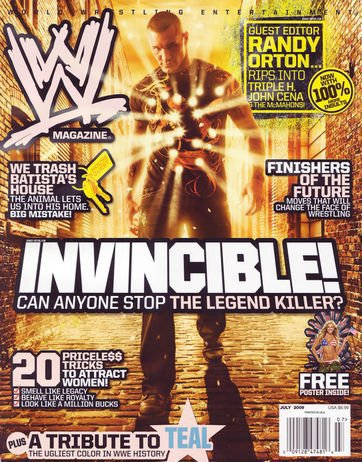"Cover of ""WWE Magazine July 2009""."