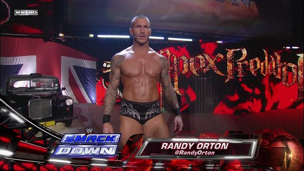 RANDY ORTON IN ENGLAND DURING SMACKDOWN.