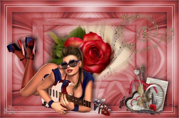 ♥♫♥♫  Magnifique cr�a de mon amie Armelle♥♫  Bonne f�te de la Musique A tous !!  ♥♫