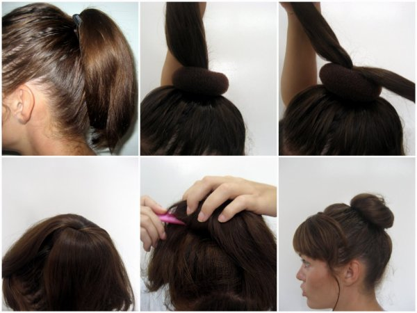 Chignon simple et rapide!