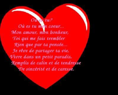 Un poeme d 39 amour ma vie et mon bonheur - Lettre saint valentin pour son cheri ...