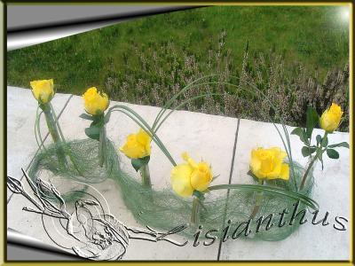 Chemin de table moderne art floral bouquet cr ations - Chemin de table moderne ...