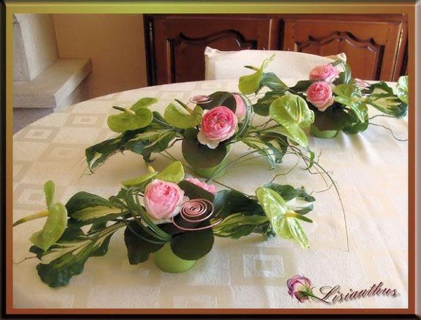 Bapt me d 39 ana art floral bouquet cr ations florales for Petites compositions florales pour table