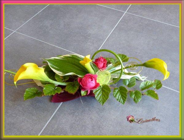 centre de table art floral bouquet cr ations florales. Black Bedroom Furniture Sets. Home Design Ideas