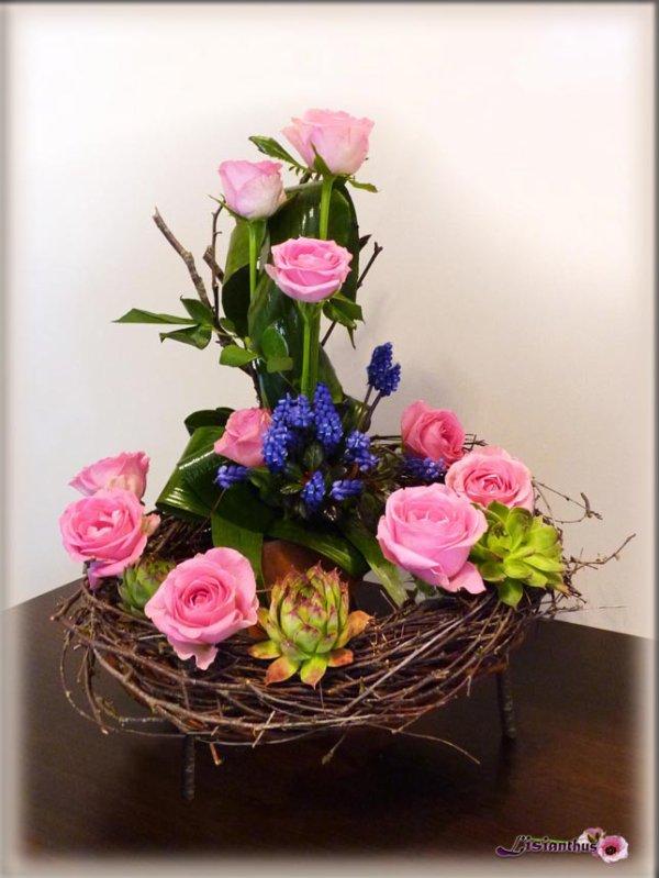 bouquet  sur couronne