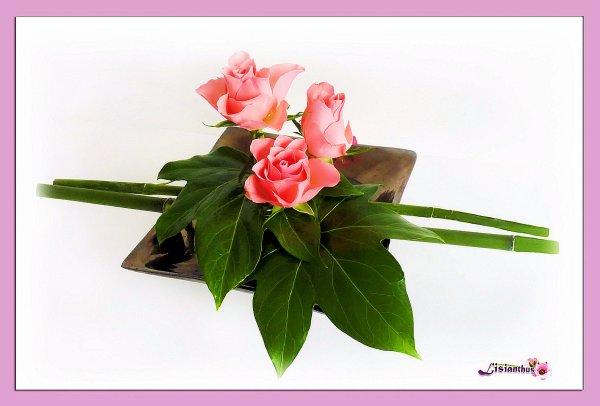 articles de lisianthus tagg s bambou art floral bouquet cr ations florales de. Black Bedroom Furniture Sets. Home Design Ideas