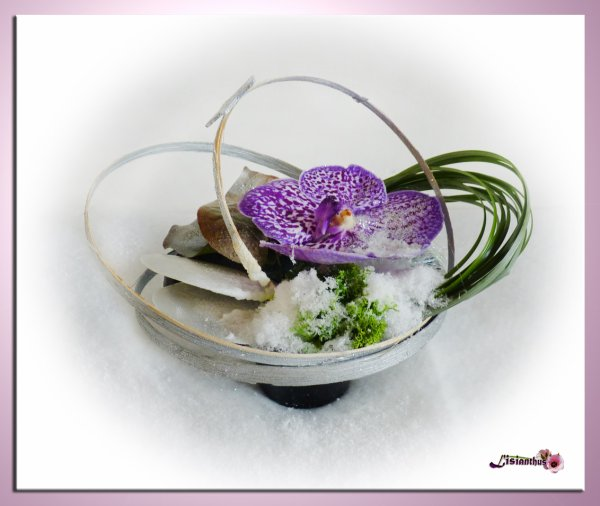 articles de lisianthus tagg s orchid e art floral bouquet cr ations florales de. Black Bedroom Furniture Sets. Home Design Ideas