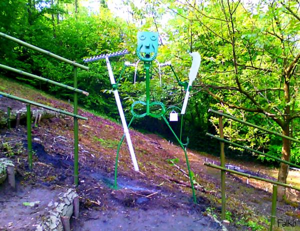 Fifi le jardinier .sculpture par Falko