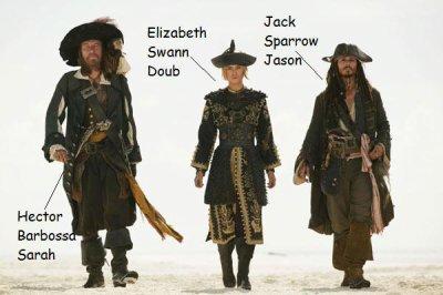 Le trio dans le monde des... PIRATES!!