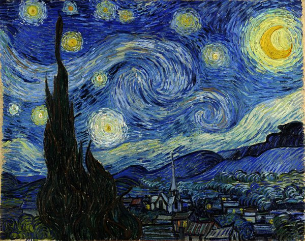 The Starry Night, Van Gogh.
