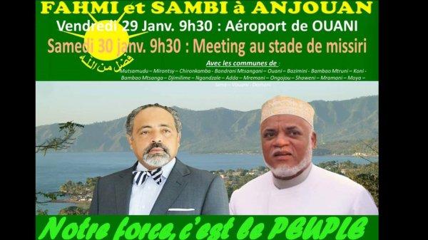 Le courrier présidentiel 2016: Meeting du parti JUWA à Anjouan