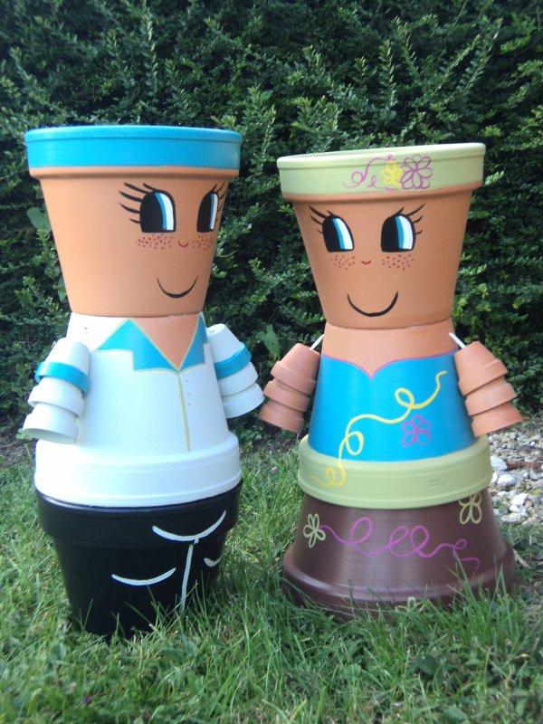 Blog de les pots de virginie mes petits personnages en pots de terre cuite - Comment faire des personnages en pots de terre cuite ...
