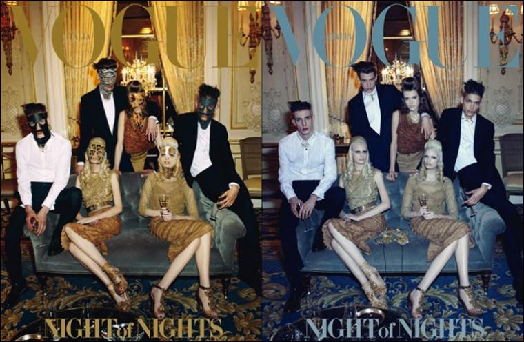Vogue Italie Avril 2012 |  Thairine Garcia, Sojourner Morrell & Chrystal Copeland
