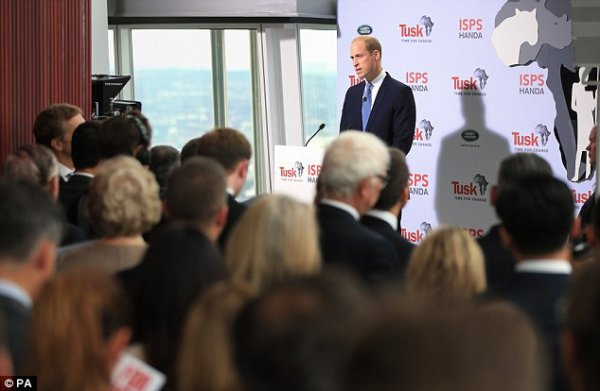 Prince william @Tusk's Time for Change event, The Shard, le 22 septembre 2016