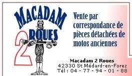 Macadam 2 roues vente par correspondance de pi ces for Vente plantes par correspondance