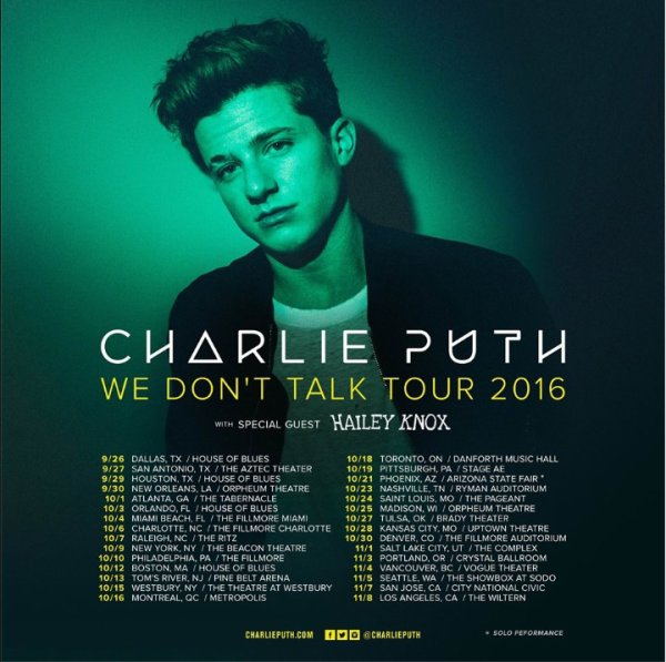We Don't Talk Tour 2016