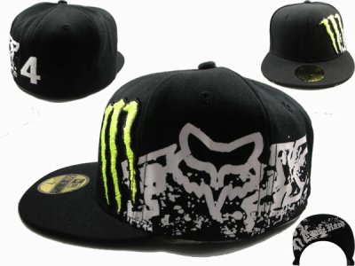 casquette monster energy fox rc black night 2011 new era caps ou monster caps. Black Bedroom Furniture Sets. Home Design Ideas