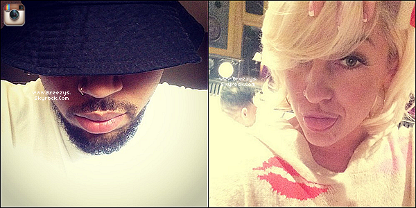 . 02.06.2014 : Chris a �t� apper�u devant chez lui a Los angeles pour son retour cher lui�. .