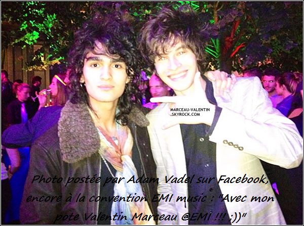 .  D�couvrez l'heure et le jour de la Twitcam tant attendu de Valentin et Maxime-Henry. D�couvrez le aussi ce 06 septembre � la convention EMI Music! + Il m'a souhait� mon anniversaiiiire !!! Oui, oui, c'est aujourd'hui xDD.  .