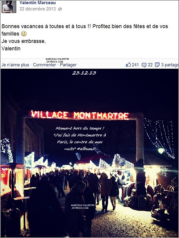 . D�couvrez les photos post�es par Valentin ou d'autres sur les r�seaux sociaux, � partir du 22 d�cembre 2013 !  + TOP, BOF, FLOP ?  .