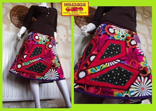 jupe mi -longue youbaba cr�ation