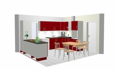 Une Id E De L 39 Agencement De La Cuisine Ouverte Sur Le S Jour Notre Maison En