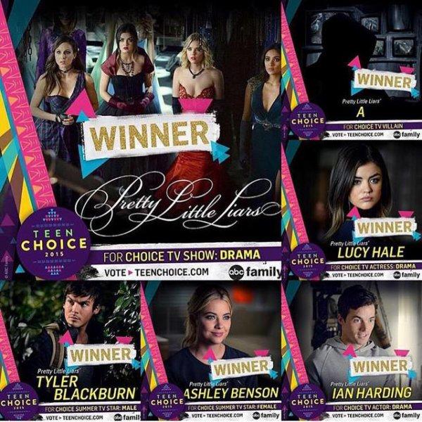 Teen Choice Awards 2015 = La puissance de la PLLArmy !