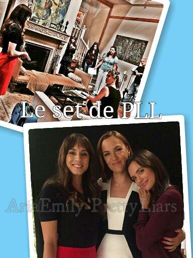Photoshoot de nos Liars + photos du set de PLL