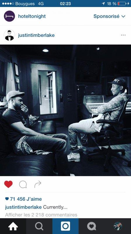 Timberlake pharrell en studio