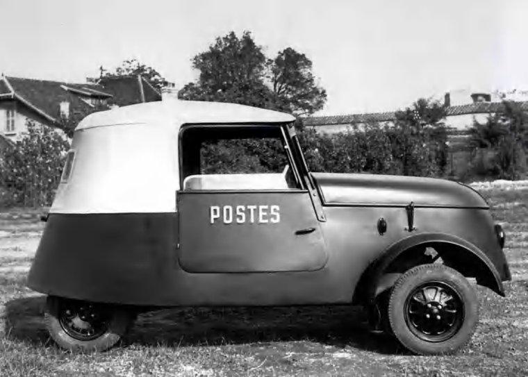 voiture de la poste 1938 1942 et deja electrique le papy 73 75. Black Bedroom Furniture Sets. Home Design Ideas