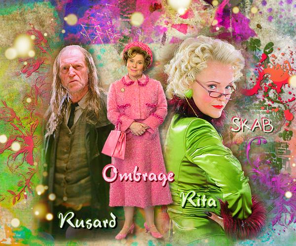 Personnages détestables : Rusard, Rita et Ombrage