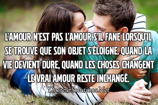 L'amour .