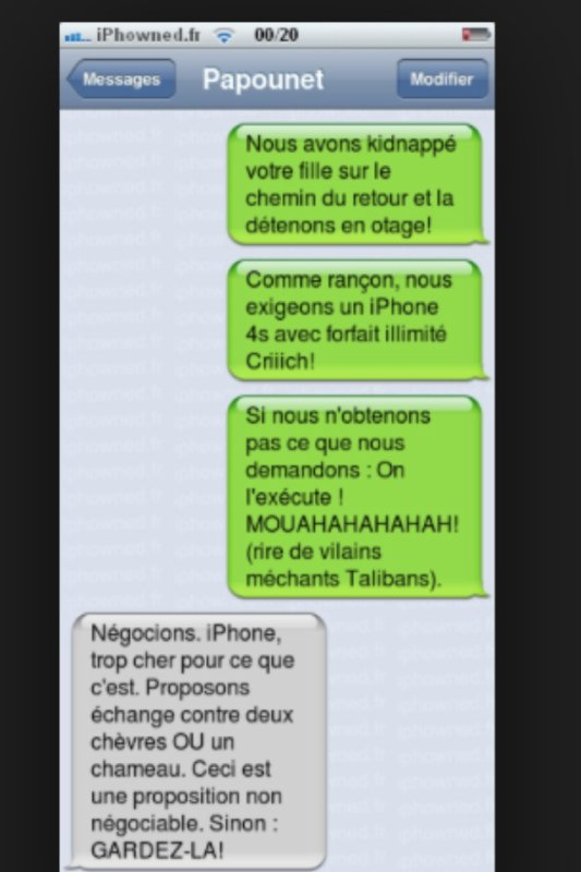 Blague sur iphone