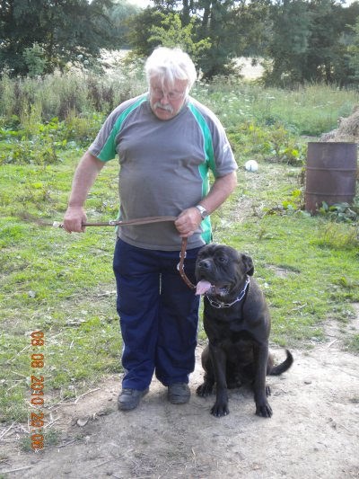 Willy et Barak son cane corso.
