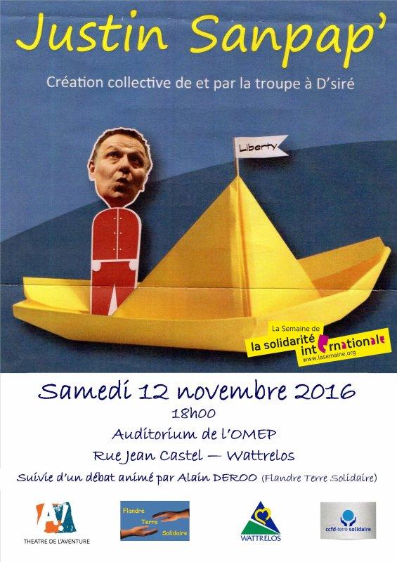 Une belle soirée solidaire à Wattrelos le 12 novembre !