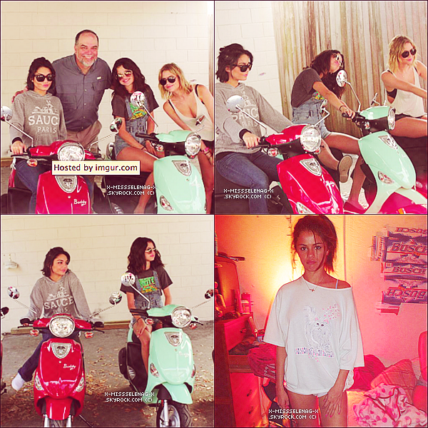 + May 21st  ;   Selena débarquant à l'aéroport d'Heathrow à Londres. + Nouvelles photos behind the scenes de Spring Breakers. +