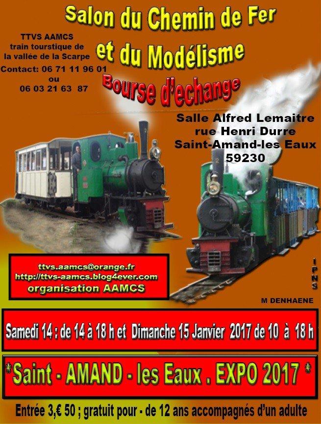 PARTICIPATION ANNULÉE Salon du Chemin de Fer et du Modélisme de Saint-Amand-les-Eaux les 14 et 15 janvier