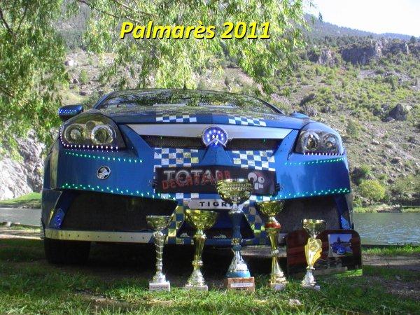 Palmar�s 2010, 2011 et 2012