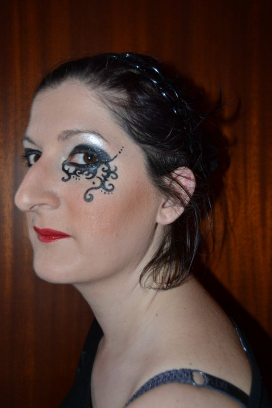 photo maquillage mariee gothique
