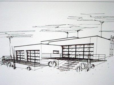croquis d 39 une maison future architecte
