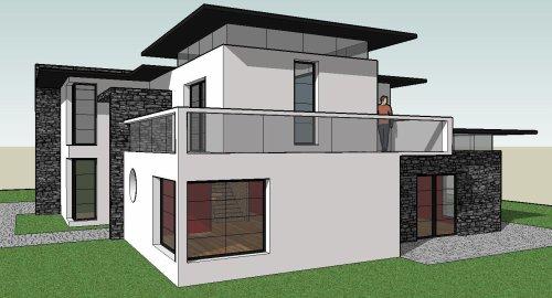 maison moderne 190 m 4 chambres blog de architecteamateur. Black Bedroom Furniture Sets. Home Design Ideas