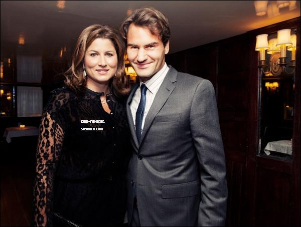 "23/08/2012 : Roger a c�l�br� son anniversaire � ""The Beatrice Inn, New York"", une f�te organis�e par sa fid�le amie Anna Wintour sous le nom ""The Birthday of Champions"""