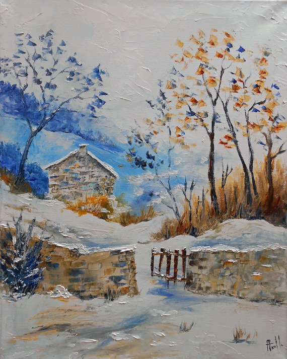 """Tableau """" La petite maison dans la montagne"""""""