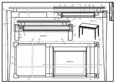 Dessin d 39 ensemble du meuble blog de cap ebeniste for Dessin de construction du meuble