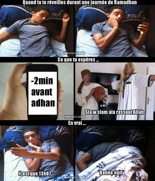 Durant une journ�e de Ramadhan ..