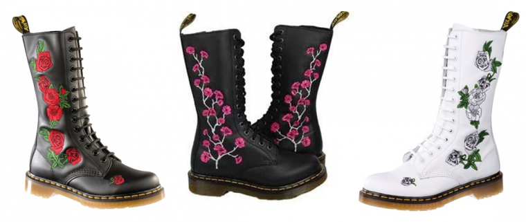 doc martens en fleur on ne s 39 en lace t pas. Black Bedroom Furniture Sets. Home Design Ideas
