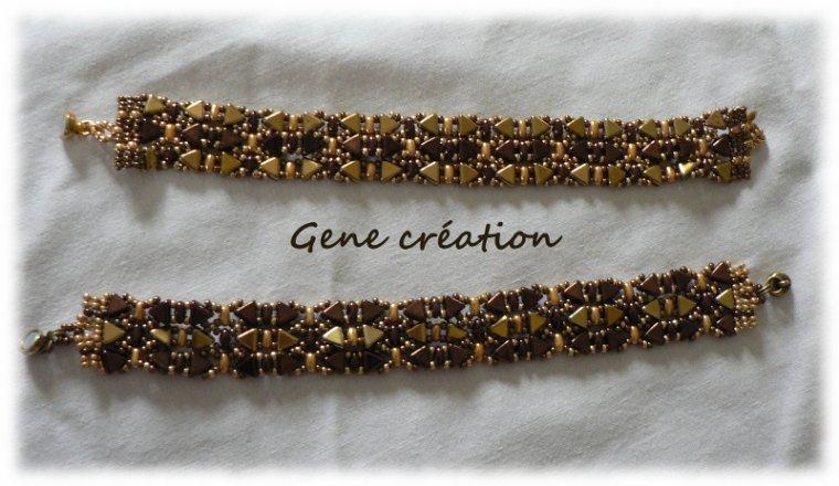 Bracelets avec des perles Khéops